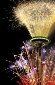 Space Needle on New Year's Eve